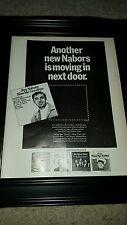 Jim Nabors Kiss Me Goodbye Rare Original Promo Poster Ad Framed!