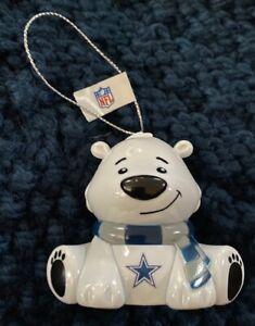Dallas Cowboys Bear Christmas Holiday Tree Ornament - NEW - FREE SHIPPING