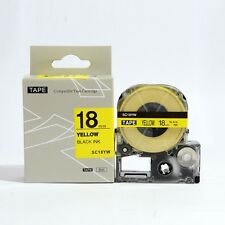 Epson LabelWorks 18mm x 8m Black on Yellow Compatible Label Tape LK-5YBW