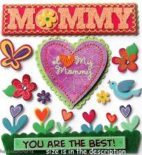 Ek éxito Jolee's Boutique En 3d Stickers-Mamá Mamá Momia-Yo Amo A Mi Mami