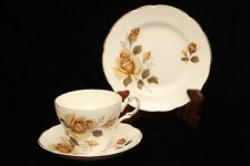 Vintage Regency Trio Set, Yellow Roses 1960's Eng. Tea Cup, Saucer & Plate - GVC