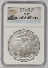 United States 2012 American Silver Eagle $1 NGC MS69 First Releases 3623837-388
