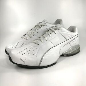 Puma Cell SURIN White Leather Running Shoes Sneakers Size 13 Men's Lace Up