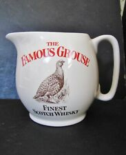 """Vintage WADE pdm THE FAMOUS GROUSE Whiskey Ceramic 4"""" WATER JUG"""
