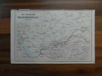 Antique map of Manchester ship canal - 19th century Victorian colour map print