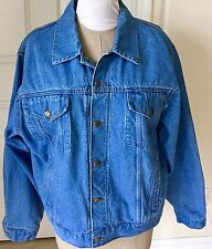 Vintage Wrangler Hero Denim Jacket Trucker Mens Size Large