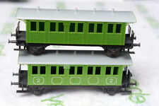 TT Scale-BTTB Lot of 2 Wagons Passenger Coaches-2nd Class Green