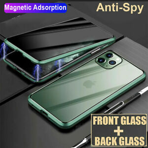 360° Anti Spy Privacy Glass Magnetic Case Cover For iPhone 12 Mini Pro Max 11 XS