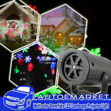 Multi-color Moving Snowflake LED Landscape Party Laser Light Projector For Xmas