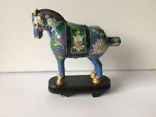 ANTIQUE CHINESE CLOISONNE ENAMEL HORSE STATUE