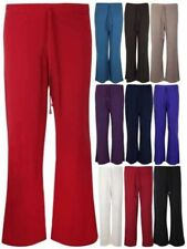 Wide Leg Polyester Stretch Pants for Women
