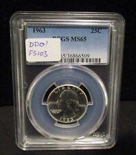 1963 Washington Silver Quarter - PCGS MS65 - DDO  FS-103 -  6509   ENN COINS