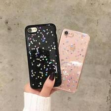 TPU Rubber Gel Skin Hearts Holographic Case Cover Sparkle Shiny Glitter iPhone