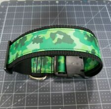 "Omies 2"" Wide Heavyduty ""Green Camo"" Themed Dog Collar 16""-26"" USA MADE"