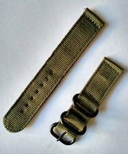20 mm Nato watch Strap Correa Reloj Nylon Watchband Verde Green