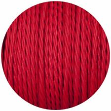 3 Core Twisted Red Vintage Electric fabric Cable Flex 0.75mm