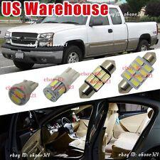 17-pc Xenon 6000k White LED Light Interior Package Kit For 99-06 Chevy Silverado