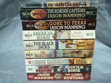 Jason Manning 9 book lot incl Mountain HonorTrail Town Black JacksMarauders
