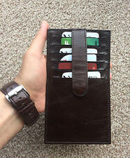 Exclusive 12 Card Real Leather Credit Card Holder Wallet Long Slim Minimalist