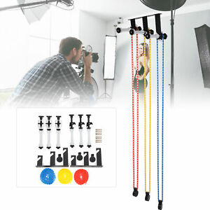 3 Rollers Wall Mounted Background Support System Kit Photography Studio Backdrop