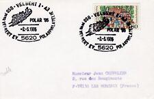 S32 Theme CHIEN enveloppe affranchissement chien de traineau POLAR '85 VELBERT 1