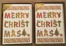 Design Holland 'Merry Christmas' Cards Two Boxes=20 Cards & 20 Foil Envelopes