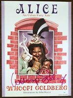 WHOOPIE GOLDBERG SIGNED POSTER 1992 ALICE AN URBAN FAIRY TALE 16X22 RARE PSA/DNA