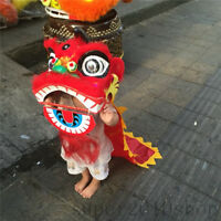 Lion Mascot Dance Costume Wool Southern Lion Chinese Folk Art For Children Toys