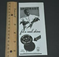 Griffin ABC Black Shoe Polish Brooklyn NY Mini 1936 Vintage Print Ad