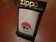 PIRATE SKULL EYE PATCH ZIPPO LIGHTER MINT 1993