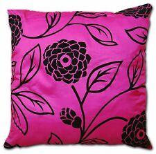 """Faux Silk Cushion Cover Decor Home Sofa Throw Pillow Case Zip Up 22"""" (55cm)"""