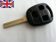 For Lexus IS200 GS300 LS400 RX300 3 Button Key Fob Case Shell and 40 mm Blade