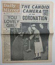 June 4th 1953 original Daily Mirror Queen Elizabeth QE II Coronation newspaper