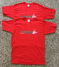 Lot Of 2 Vtg Deadstock Washington DC Red T-shirt by Tee Joys Size M/L Made in US