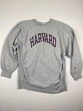 Vtg 80's Champion Harvard Reverse Weave Sweatshirt Sz XXL Gray Vintage 1980's