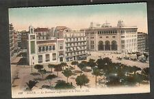 unmailed post card Algeria Alger Le Boulevard Lafferriere et La Poste