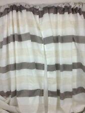 Home Maison Curtain Panels 1 Pr White, Coffee & Cream Horizonal Stripes 76X94 In