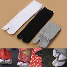 3Paar Unisex Japanese Kimono Flip Flop Sandal Split Toe Tabi Ninja Socks So C7V4