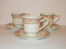 3 x DINASTIA CORONA tè tazze e piattini del design floreali Adorabili