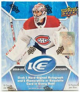2019/20 Upper Deck Ice NHL Ice Hockey Hobby Box BRAND NEW - WOW - RARE
