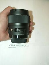 Sigma 35mm F1.4 ART DG HSM NEW PRIME WIDE Lens for CANON CAMERA in FACTORY BOX
