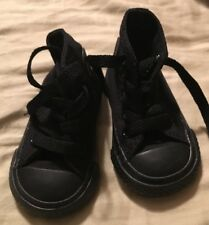 Converse Infant all star chuck taylor all black On Black high tops size 2 Baby