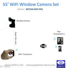 55° Angle Mini WiFi Window Camera for iPhone / Android Smartphone Remote Viewing