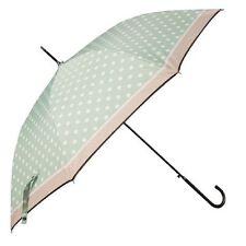 Clayre & Eef Stockschirm Damen Schirm Harlow Regenschirm grün Punkte 98x55 52836