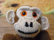 PRINTED INSTRUCTIONS-CHESTER CHIMPANZEE - TOY MONKEY ANIMAL KNITTING PATTERN
