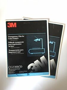 Lot of 2 SEALED 3M CG3300 Transparency Film Sheets for Laser Printers 8.5 x 11