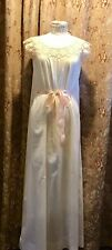Antique Handmade Lady's Bridal Nightie / Nightgown Crocheted Top - Sm
