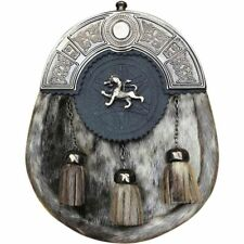 Scottish kilt sporrans Peau de Phoque Lion Rampant Finition Antique/Homme Kilt Sporran