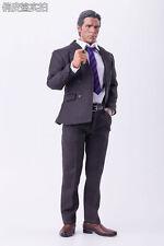"1/6 Scale Gentleman Male Suit Black Jacket Pants Tie Outift Model for 12"" Figure"