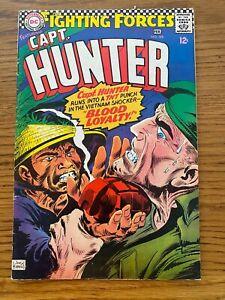 OUR FIGHTING FORCES   #105  DC 1966  CAPT. HUNTER  (War)  KUBERT CVR